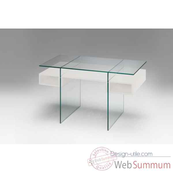 Bureau laque blanc Marais International -LUX477LB
