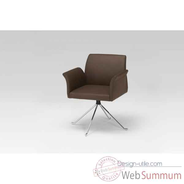Fauteuil d'accueil ou de table marron Marais International -SB7800C