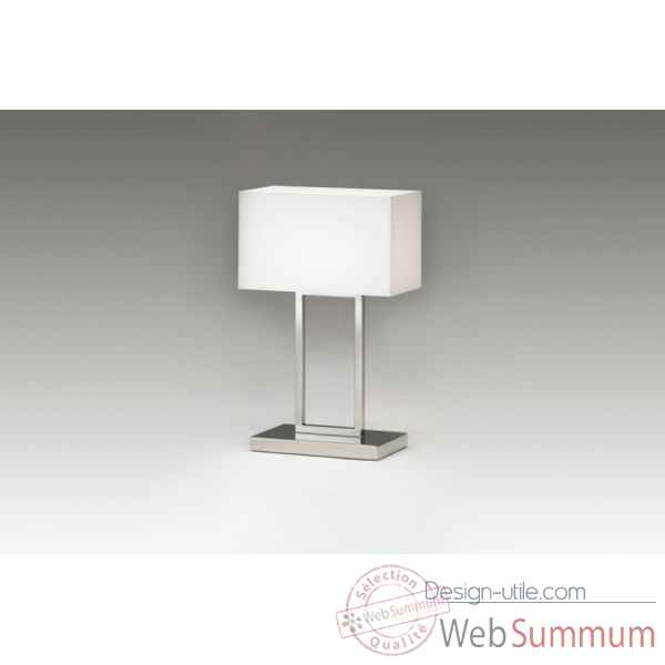 Lampe en plexiglas & acier chrome Marais International -BILIGHT47