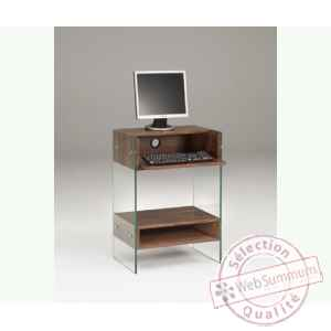 petit meuble informatique en mdf 60x40 ht 86cm avec niche dans bureau design marais. Black Bedroom Furniture Sets. Home Design Ideas