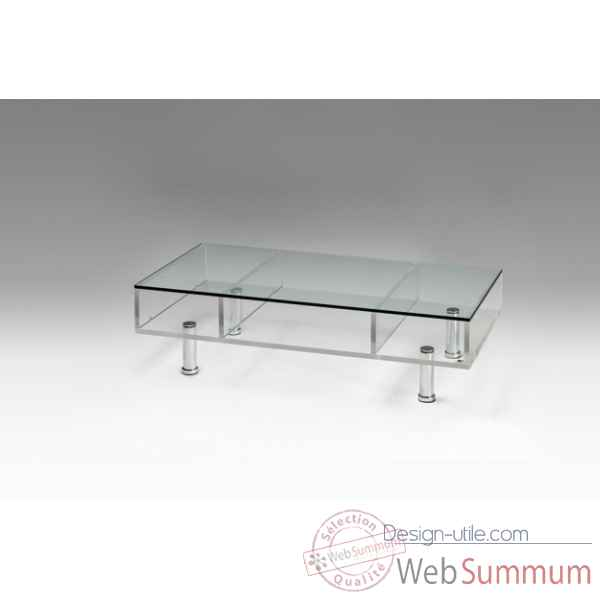 Table basse plexiglas sur roulettes Marais International -MTB220R