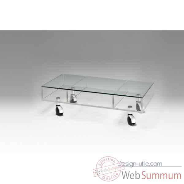 Table basse rectangulaire plexiglas Marais International -MTB220