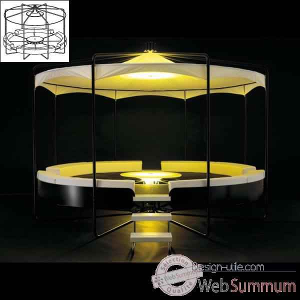 Meuble lounge BeHive Extremis avec structure toit -BHD