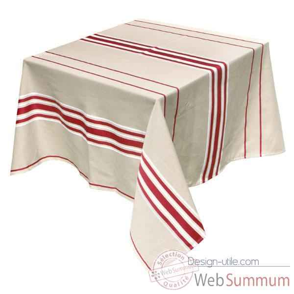 Video Nappe rectangulaire Artiga Corda Metis Bordeaux 300 x 165