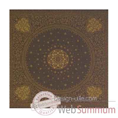 Nappe carree St Roch Tsarine vieil or pur coton -29