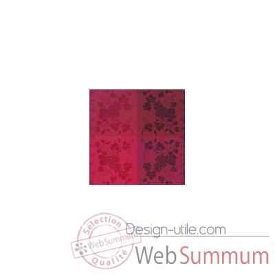 nappe carr e st roch vendangival rubis coton enduit 180x180 55 de nappes pratiques. Black Bedroom Furniture Sets. Home Design Ideas