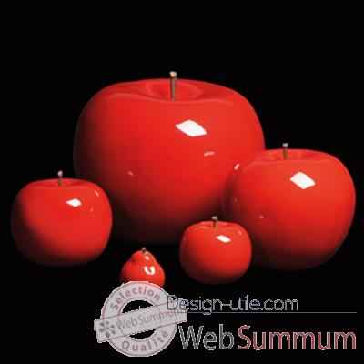 Pomme rouge brillant glace Bull Stein - diam. 75 cm outdoor