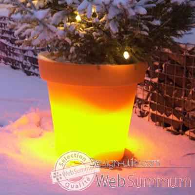 Video Pot fleur lampe 60 cm Orange