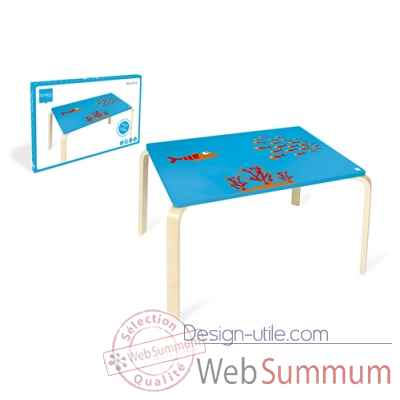 Table poisson Maurice en bois Scratch -6182305