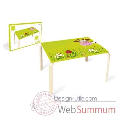 Table vache Marie en bois Scratch -6182304