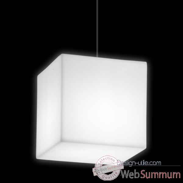 Lampe design design sur piquet fiaccola cubo rouge lampe ip55  SD FCC131