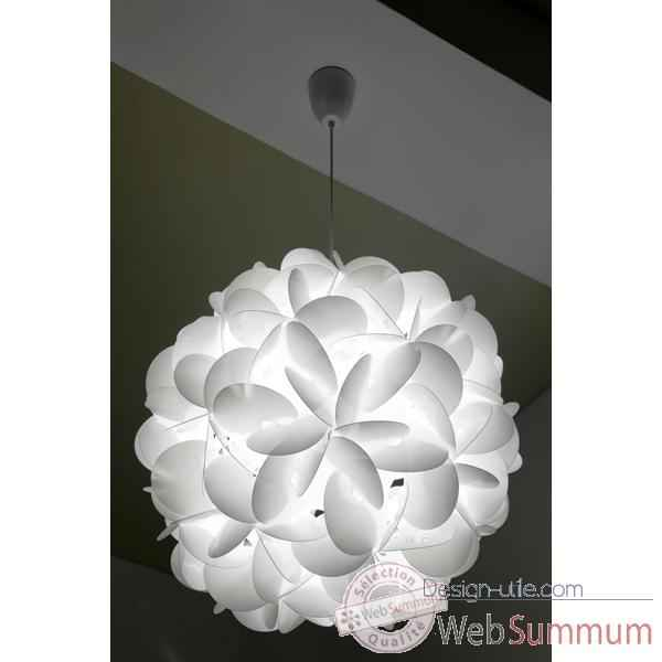 Luminaire supension raoul raba e60 blanche designheure for Suspension blanche design