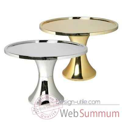 Table Basse Branex Design Table Tam Tam Chrome Argent -6028