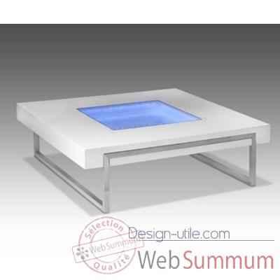 Table basse carr e lumineuse marais dans table basse for Table basse pour tele ecran plat