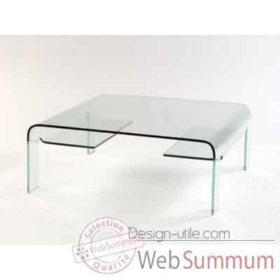 table basse marais pont carr e en verre bomb dans table basse design marais design. Black Bedroom Furniture Sets. Home Design Ideas