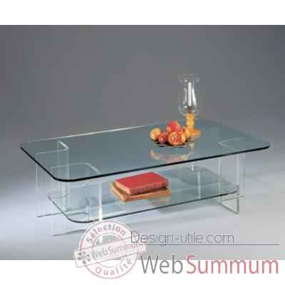Table basse rectangulaire Marais en PMMA -MA83