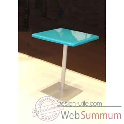 Table bistrot Art Mely pied laque -AM003