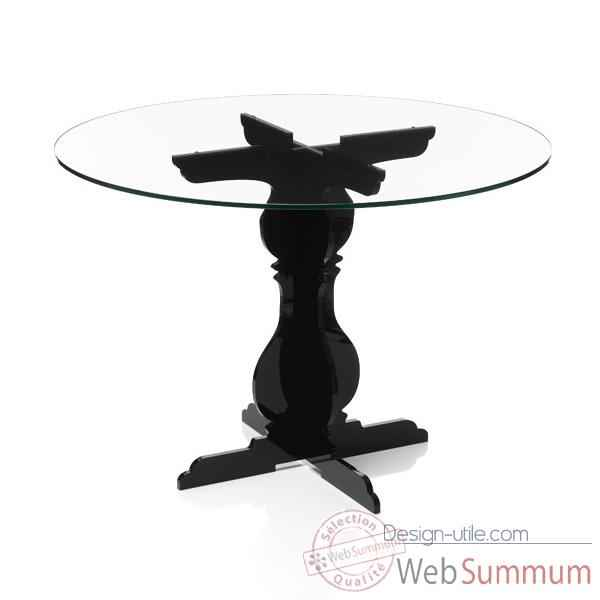 Video Table baroque noire Acrila - 0033