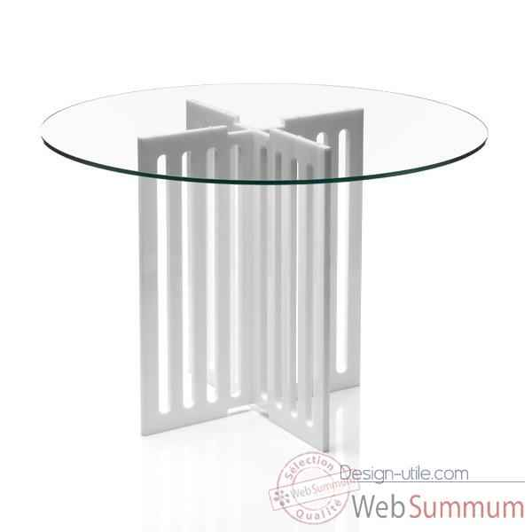 Table contemporaine barreau blanche Acrila - 0034