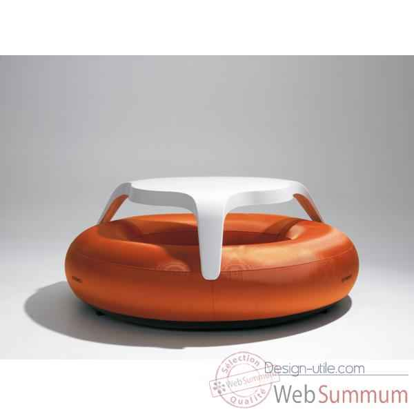 Table DoNuts Extremis avec assise orange -DTWBO