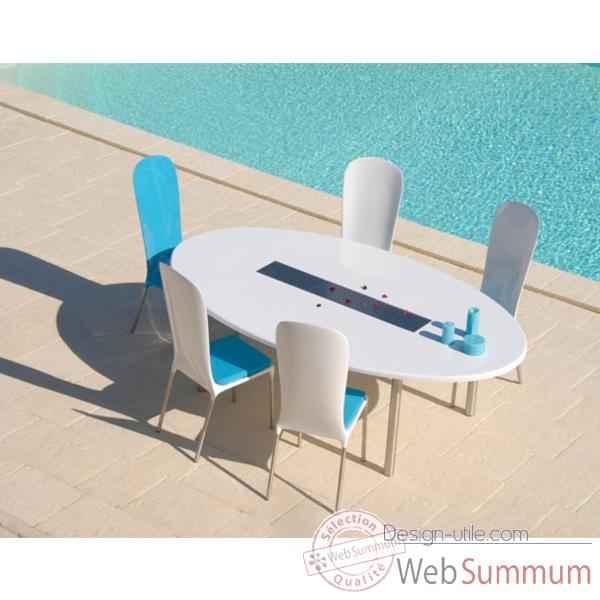 table ovale art mely pieds laqu s am007 de meuble terrasse design tendance. Black Bedroom Furniture Sets. Home Design Ideas