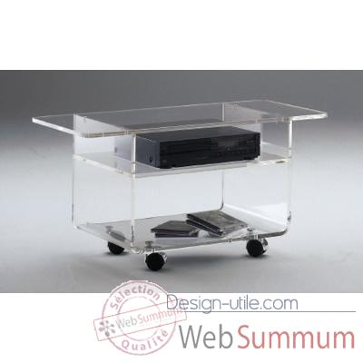 Table tele 60x39.6x60.5 Marais Hifi Video en PMMA -MTV66