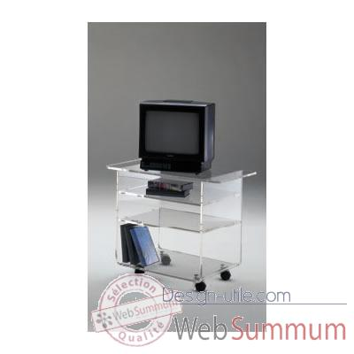 Table tele 70x39.6x60.5 Marais Hifi Video en PMMA -MTV67