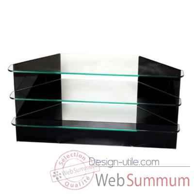 Table t l 100x35x50 marais en verre tremp coltv100 de for Table tele en verre