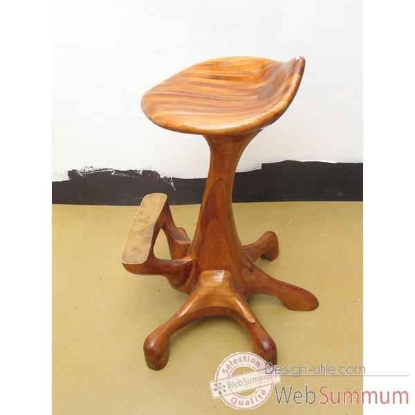 Tabouret de bar queue de baleine en bois de rauli - Tabouret en bois reglable en hauteur ...