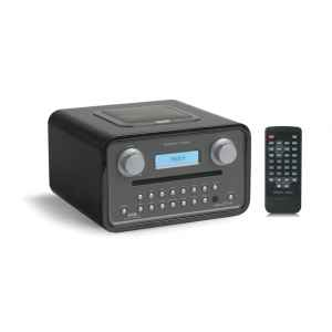 poste radio lecteur cd dab fm sorties casque et mp3 noir. Black Bedroom Furniture Sets. Home Design Ideas