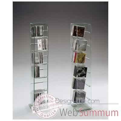 tour marais pour cd en verre recuit dans meuble cd - dvd marais ... - Meuble Cd Design