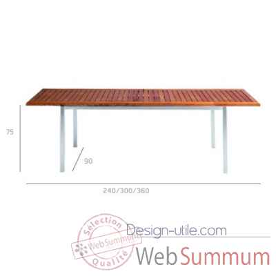 Natal teak table extensible Tribu -Tribu104