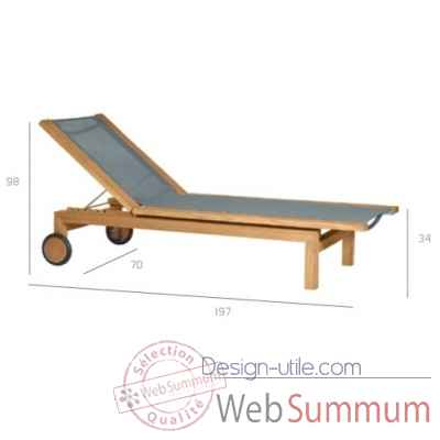 Pure light chaise longue Tribu -Tribu138