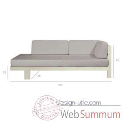 Pure sofa off-white meridienne gauche Tribu -Tribu148