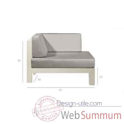 Pure sofa off-white module coin Tribu -Tribu149